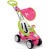 Smoby Машинка каталка 2 в 1 bubble go pink/green 720102