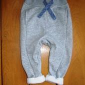 Спортивные штаны Kiaba на 1-1.5 года 77-82 рост (микрофлис внутри)