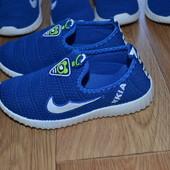 Суперлегкие дишащие мокасины кроссовки 16.5см и 17. 5см стелька