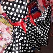 Нарядное симпатичное платье горох 116-146