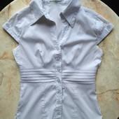 Женская блузка белая рубашка фирмы Юджения размер 38 XS S