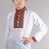 Сорочка вышиванка для мальчика, два вида вышивки.
