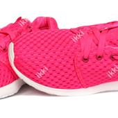 Очень яркие розовые женские мягкие кроссовки на лето (НК 134Н)