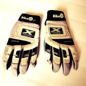 Кожаные перчатки байкерские кожа р.S  Bike it