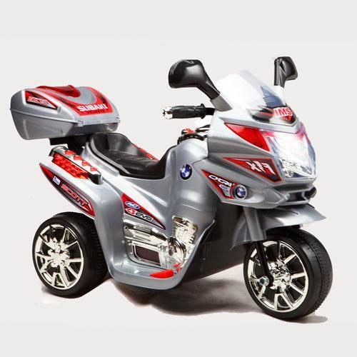 Детский электромотоцикл Bambi subaki (M 0567)0566 серый красный фото №1
