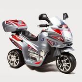 Детский электромотоцикл Bambi subaki (M 0567)0566 серый красный
