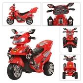 Детский электромотоцикл Bambi (M 0563) красный