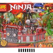 Конструктор Lele Ниндзя Ninja 1193 деталей 31011 Осада крепости Ву аналог lego ninjago