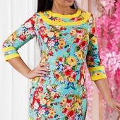 Размеры 46-52 Стильное женское льняное платье весна-лето 2017