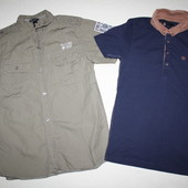 Поло Next и рубашка H&M