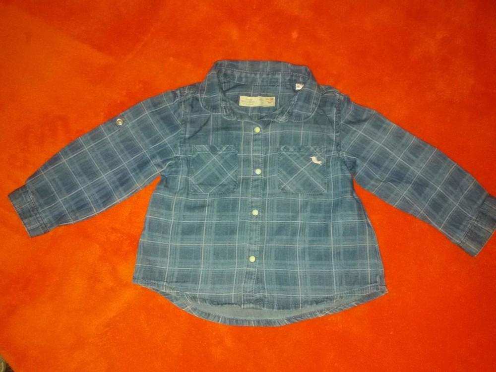 Шикарная рубашечка zara baby girl на 1-2 года фото №1