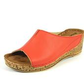 100-11-8-003  Женская ортопедическая летняя обувь, сабо, материал - кожа, Inblu, Инблу