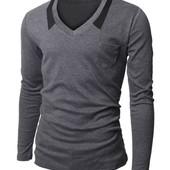 Пуловер серого цвета С,М,Л 1127 (2з
