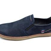Мужские мокасины Multi Shoes рrima ср рerforation синие