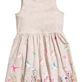 Сарафан с птичками и цветами 6-8 лет