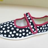 Распродажа Тапочки для девочки, натуральный текстиль, Польша