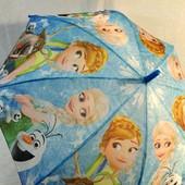 Зонт зонтик трость для девочки Фрозен Холодное сердце