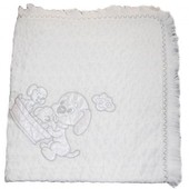 Плед-одеяло Beberru, 80х90 см, махра, белый