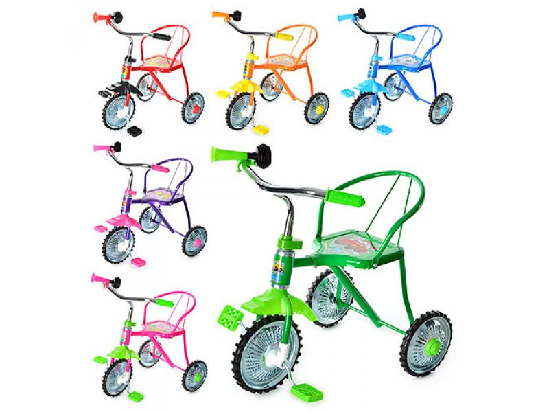 Велосипед детский трехколесный bambi 701-2 фото №1