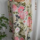 Платье с нежным принтом прямого кроя