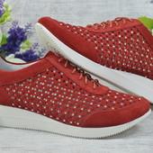 Женские стильные туфли из натурального замш