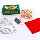 Настольная игра русское лото 8815G в картонной футляре (коробке): 90 бочонков + 24 карточки