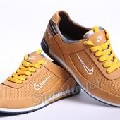 Кроссовки Nike - натуральная кожа с перфорацией