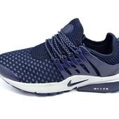 Женские кроссовки Nike Air Presto 384 синие (реплика)