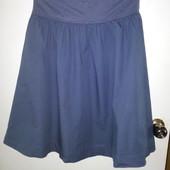 красивая легкая юбка сине-серого цвета М
