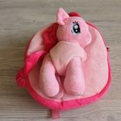 Детский рюкзак My little pony со съемной игрушкой (3 цвета)
