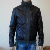 Мужская куртка-кожа , размер 46