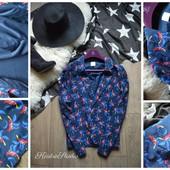 Стильный блейзер-пиджак с попугаями,р-р Л