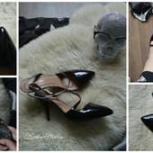 Стильные туфли-босоножки с закрытым носочком,р-р 39-40