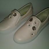 5 цветов!!!! КОЖа! Новые слипоны туфли 37 размера из натуральной кожи