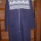 Пижама хлопковая, с начесом, размер М, рост до 185 см
