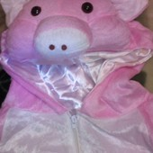 Карнавальный новогодний анимационный костюм свинки для взрослых