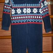 Пижама флисовая, мальчику на 7-8 лет, рост до 128 см,Primark