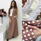 Красивое длинное платье с поясом цвет коричневый  ткань софт размер с-м платье с карманами