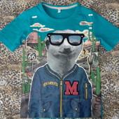 Новая яркая футболка Marks&Spencer на 4-5 лет