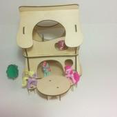 Двухэтажный домик для феи, кукол, PetShop, зверюшек