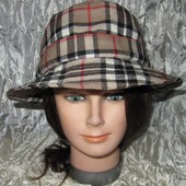 Кепка Шапка шерсть в клетку Burberry. Bucket Hats Шотландия