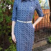 Платье-рубашка джинсовое Строгое на пуговицах