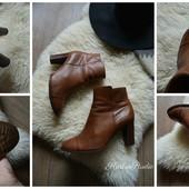 Кожаные ботинки Clarks на удобном каблуке,р-р 38-39