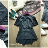 Крутая блуза с баской Oasis из эко-кожи,р-p М