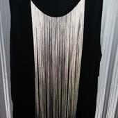Майка,платье , туника с бахромой