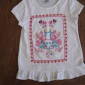 Фирменная TU нарядная футболка туника девочке 5 лет идеал