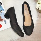 (37,5р./24,5см) 5th Avenue! Замша/кожа! Красивые туфли в классическом стиле