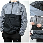 Мужская куртка ветровка с подкладкой Nike 4 цвета