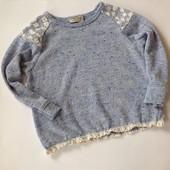 свитер с кружевом р.98