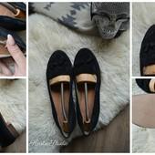 Новые замшевые туфли-лоферы на широкую ногу,р-р 41